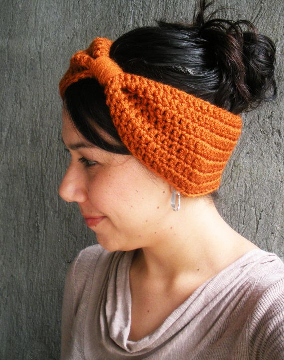 PDF PATTERN Crochet Earwarmer Headband Big Hair Bow by LanadeAna, Fall is on the way!