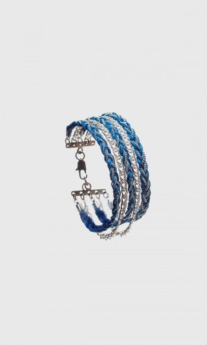 Bracelet manchette Maxi Billy argent par Monsieur Simone