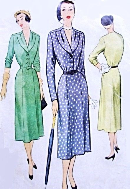 1950s Lovely Dress Pattern McCall 8316 Classic Fifties Day Dress Bust 34 Vintage Sewing Pattern