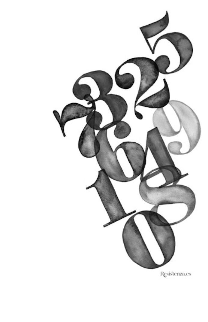 typographie nombres