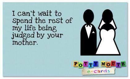 Lol! Mother in law joke!