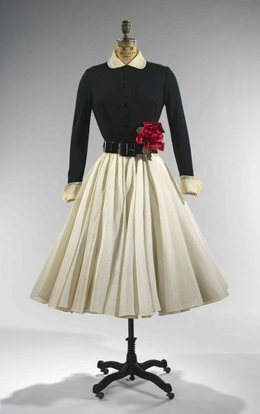 Dress by Norman Norrell, c. 1951.
