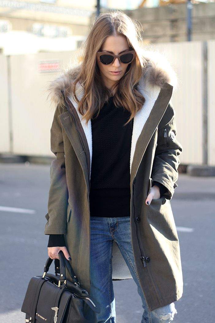 Fashion and style: Hooded parka