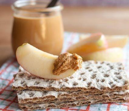 арахисовая паста с хлебцами