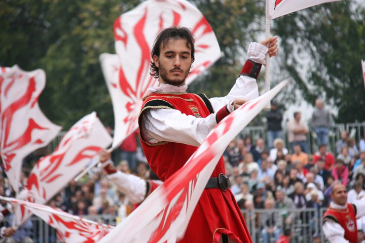 Day 1 on this wine tour begins with a medieval parade and food fest in Alba. #Italy #wine