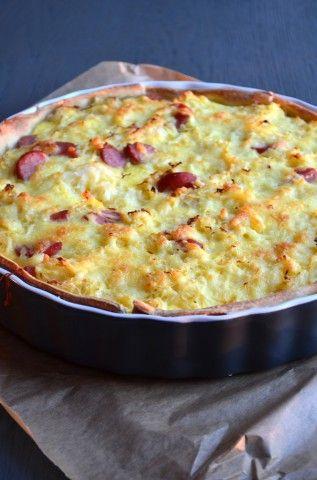 Dit recept voor zuurkooltaart is lekker en makkelijk om te maken. #sauerkraut
