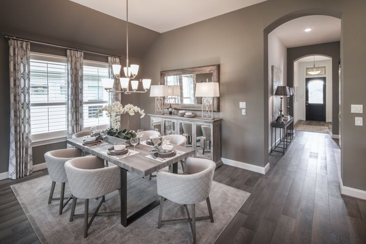 Fantastic Foyer Ideas To Make The Perfect First Impression: The Entryway Opens Up Into This Stunning Dining Room To
