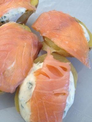 Pomme de terre au saumon fumé ... 5 pp - Rachel et sa cuisine légère et gourmande: