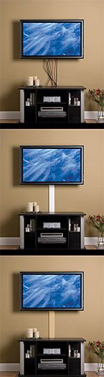 Hiding cords for wall mounted TV