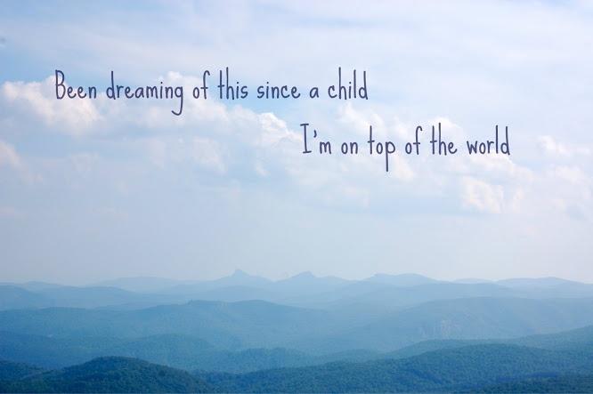 """on top of the world"" -imagine dragons | Lyrics | Pinterest"