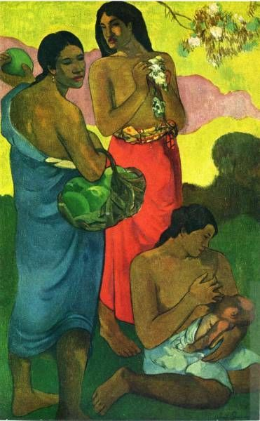 Paul Gauguin, France.  Paul Gauguin because his take on post impressionism used arbitrary colours and different cultures to help him find his own religion