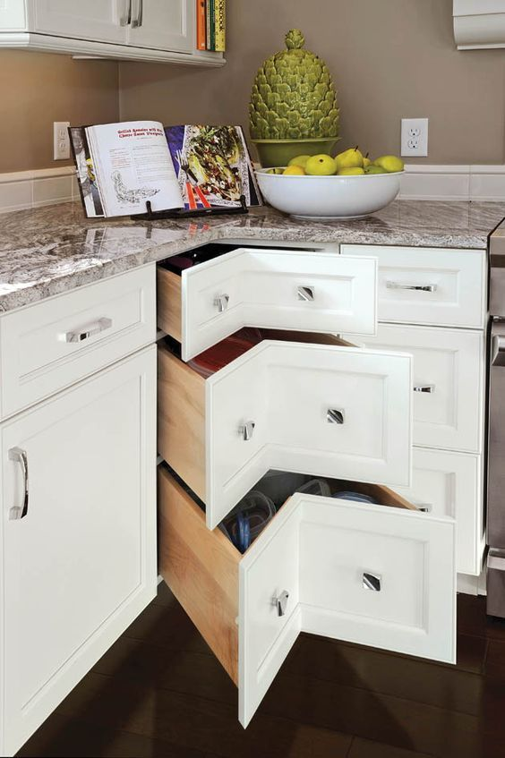 stylish corner drawers