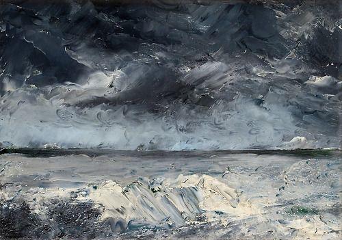 Packis I Stranden, August Strindberg. Swedish (1849 - 1912) - Oil on Canvas - Tumblr