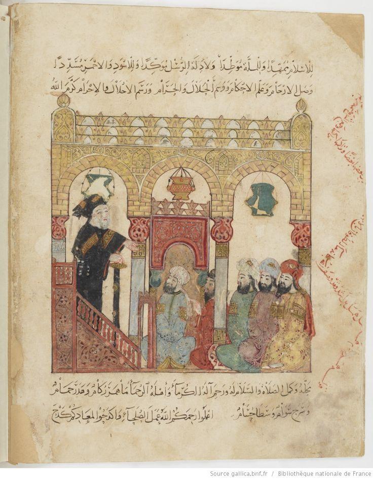 folio 84v, maqama 28. Abu Zayd preaching in Samarqand