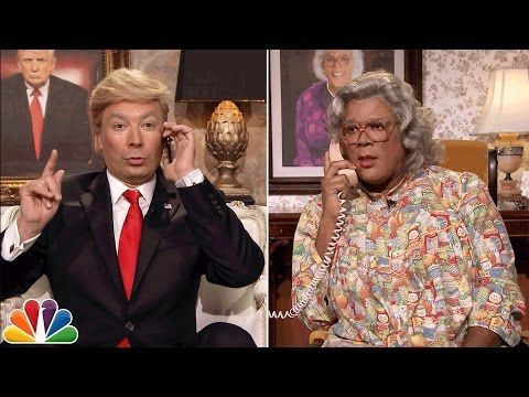 YouTube. Donald Trump calls Madea, the late night show, Jimmy fallon
