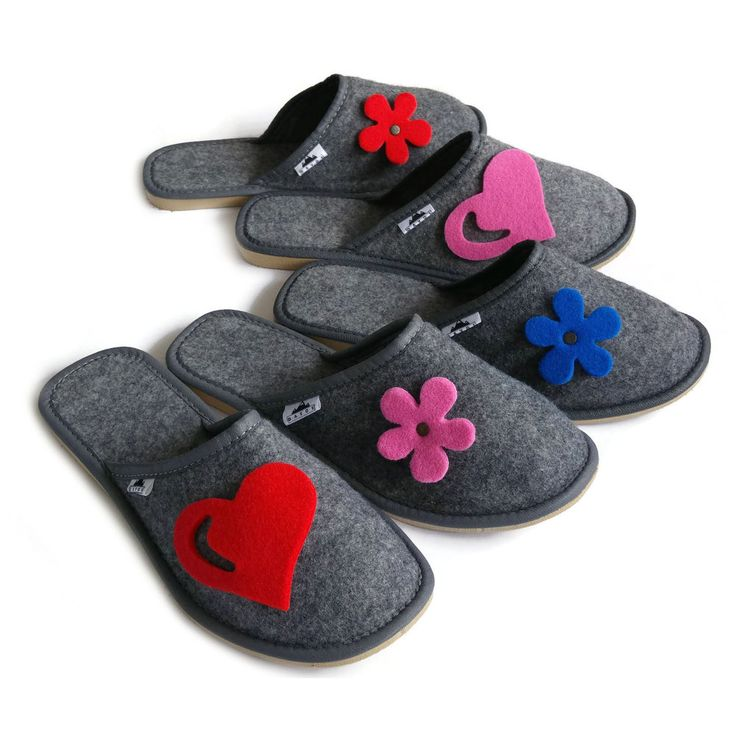 Modern Ladies mule Slippers in a grey colour. Easy to slip on/off. Available in 5 patterns Available sizes Grey with blue flower. Designed for comfort.   eBay!