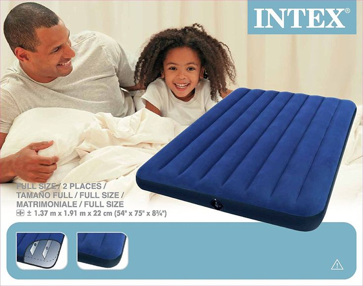 Intex 68758 Materassino Downy, cm 137X191X22 , I.3, Blu: Amazon.it: Casa e cucina