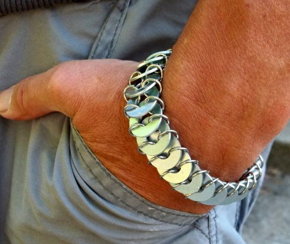 Men's Stainless Steel Washer Maille Bracelet