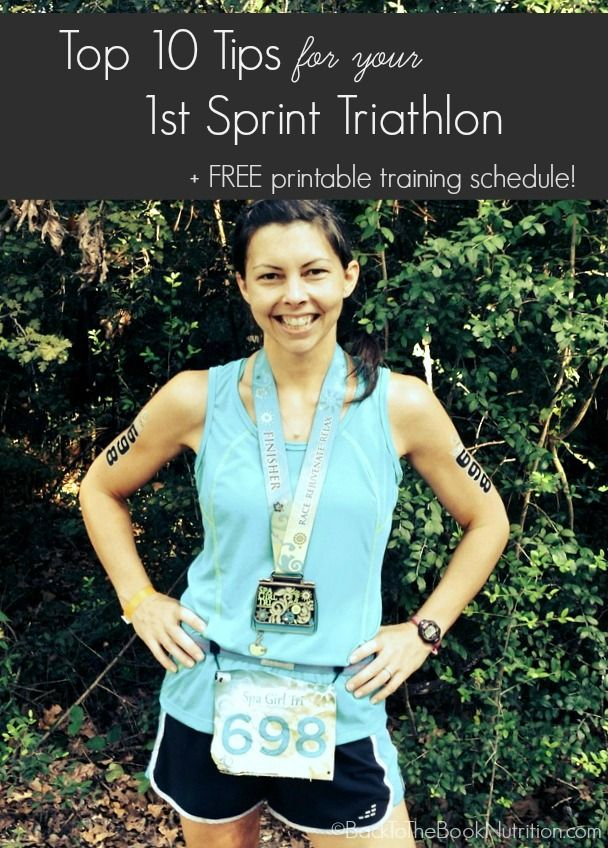 10 killer tips for beginner triathletes + FREE printable 12 week sprint triathlon training schedule