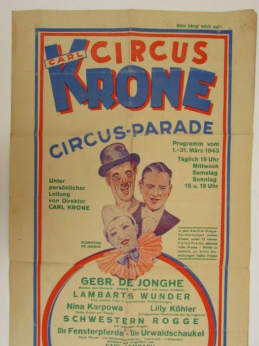 Online veilinghuis Catawiki: Anonymous- 'Circus Krone circus-parade' - 1943
