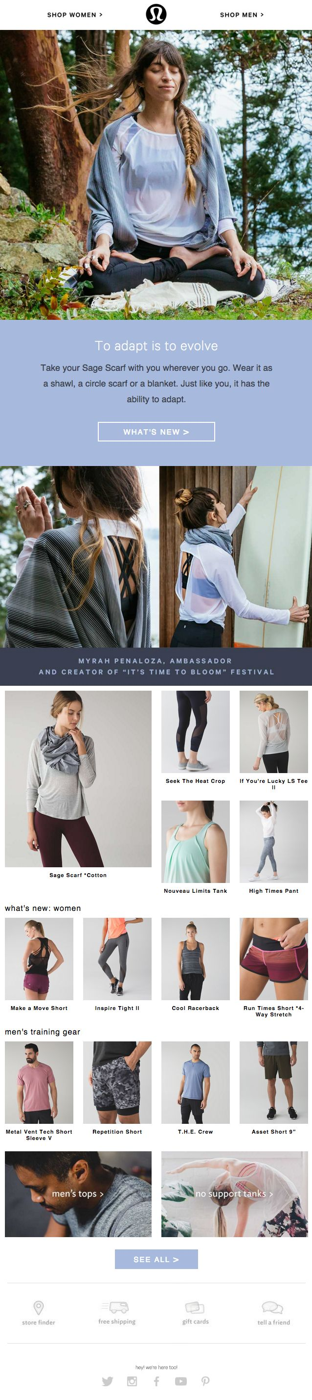 Lululemon  |  Layout