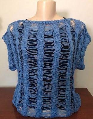 Blusa Valdelice em tricô - por Vitória Quintal                                                                                                                                                                                 Mais