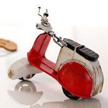Mini Moto de Metal Jardim De Fadas Em Miniatura Miniatura do vintage Decoração da Casa de Artesanato Decoração Do Casamento(China (Mainland))
