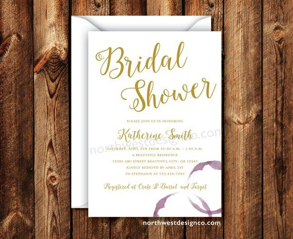 Wine Themed Bridal Shower Invitation 5x7 Digital File Or Etsy Bridal Shower Wine Theme Bridal Shower Invitations Bridal Shower Theme