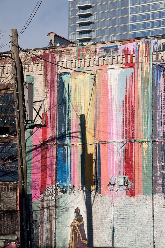 via kitkaWall Colors, Brooklyn Graffiti, Brooklyn Painting, Pastel Rainbows, Beautiful, Street Art, Wall Painting, Brooklyn Street, Architecture