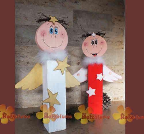 Holz Engel - Die Holzblume
