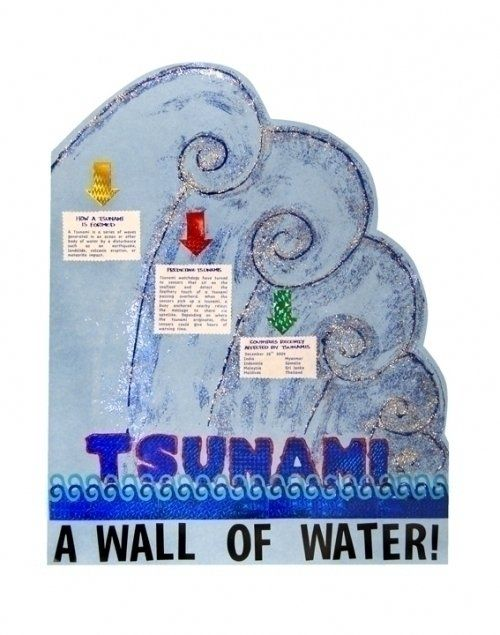 Make a Science Fair Project | Poster ideas - Tsunamis | Natural Disasters Poster Project for Kids
