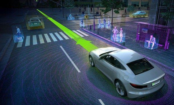 Nvidia no tiene un coche autónomo pero tiene la receta para crearlo   Nvidia ha presentado un ordenador para coches autónomos con la potencia de 150 MacBooks Pro.  Y suponemos que no tiene intención de llevar un coche autónomo al mercado de momento. No obstante en el seno del CES 2016 la compañía ha presentado la receta para crear coches autónomos mucho más eficientes y sobre todo mucho más inteligentes. La compañía ha anunciado su primer ordenador de inteligencia artificial para el coche…