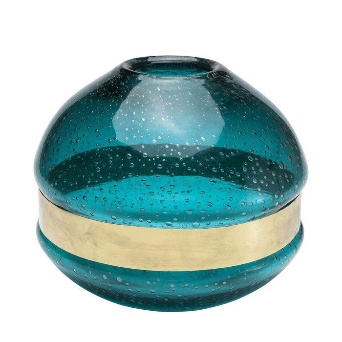 Band vase turquoise short #FashionYourHome
