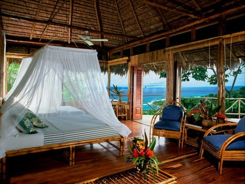 Tropical Bedroom Decorations with Canopy Curtains Picture