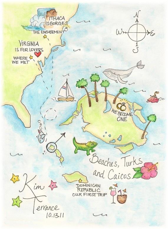 Custom illustrated map