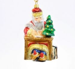 Santa Writing Letter - Polishchristmasornaments