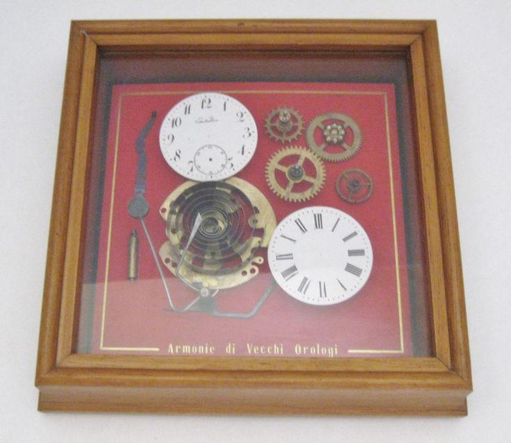 Armonie Di Vecchi Orologi Clock Watch Parts Shadow Box Made in Italy Steampunk #ArmonieDiVecchiOrologi