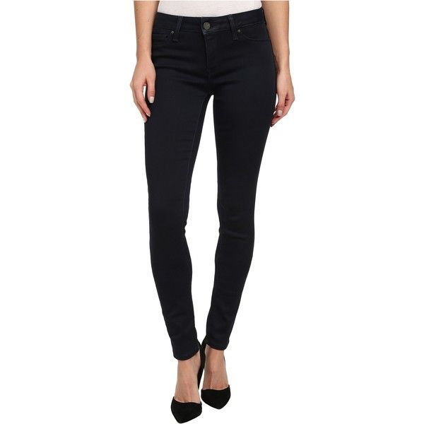 Mavi Jeans Adriana Midrise Super Skinny in Ink Coated Women's Jeans,... ($48) ❤ liked on Polyvore featuring jeans, black, black super skinny jeans, dark wash jeans, dark wash skinny jeans, mavi skinny jeans und black mid rise skinny jeans