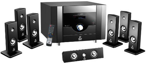 Pyle PT798SBA 7.1 Channel Home Theater System with Satellite Speakers, Center…