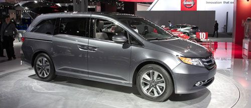 The 2014 Honda Odyssey has a six-speed automatic 3. 5 L V6 engine provides 248 hp and 250 lb-ft torque to van thus making it very strong for a drive. The mileage and efficiency has been considerably increased with 19 mpg in city and 28 mpg on the highway. A price range of about $29000 is the reason why the van can be seen in large numbers on the road.