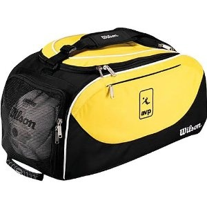Wilson Avp Volley Ball Travel Backpack. Carry your gear in two ways! The Wilson® AVP® volleyball travel backpack easily converts from a duffel bag to a backpack with its hideaway conversion straps. It features a vented end pocket, which is perfect for balls or shoes, or for use as a wet compartment.