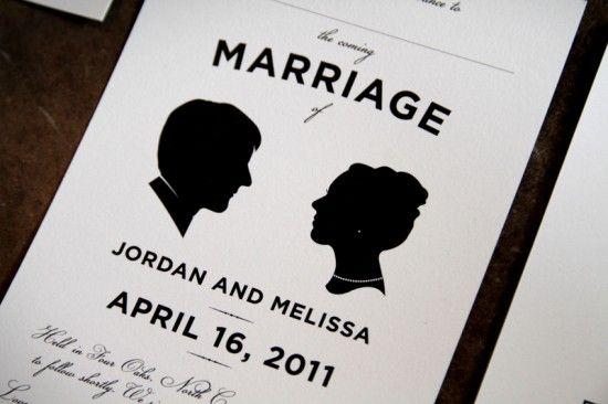 wedding card  シルエットデザインが素敵