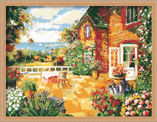 Paint By Number Kit 80x60cm 31x23 5 Sunny House Painting