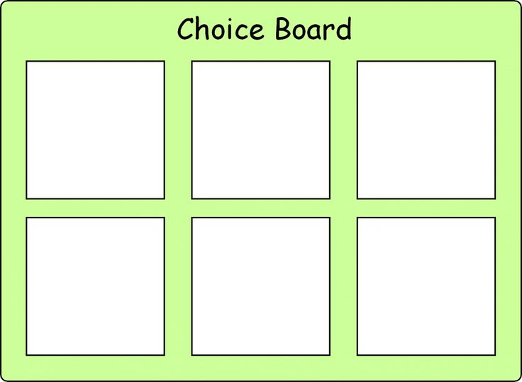 18 best images about choice boards on pinterest choice board 6 i am thinking of making this and having putting things up pronofoot35fo Gallery