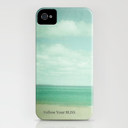 Follow Your Bliss iPhone Case #Michigan #beach #quote