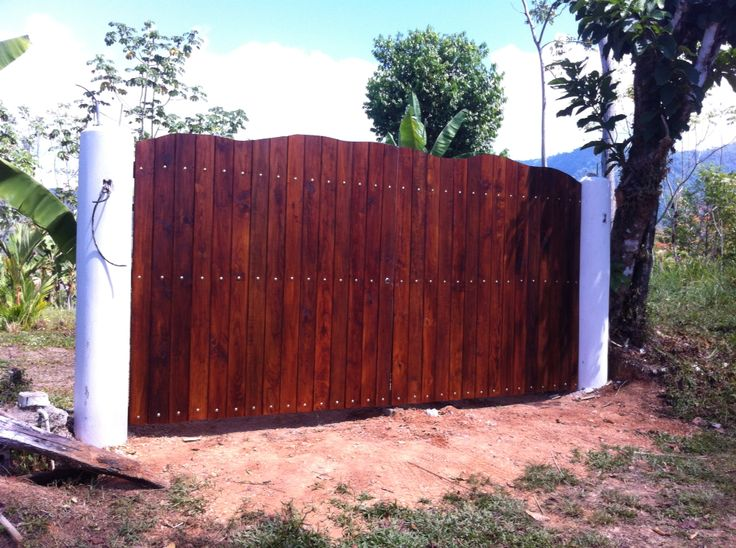 Stained treated pine gate