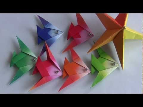 Peixe nº 01 PEIXE DE ORIGAMI - YouTube
