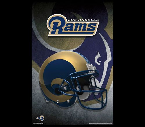 LOS ANGELES RAMS 2016 Official NFL Football Team Helmet LOGO WALL POSTER #LosAngelesRams