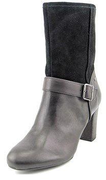 Hush Puppies Dakota Sisany Round Toe Leather Mid Calf Boot.