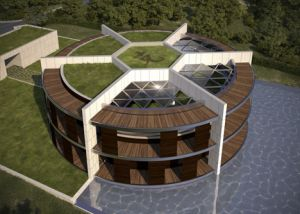 Luis de Garrido designs football-shaped eco-mansion for Lionel Messi - NewsFiber